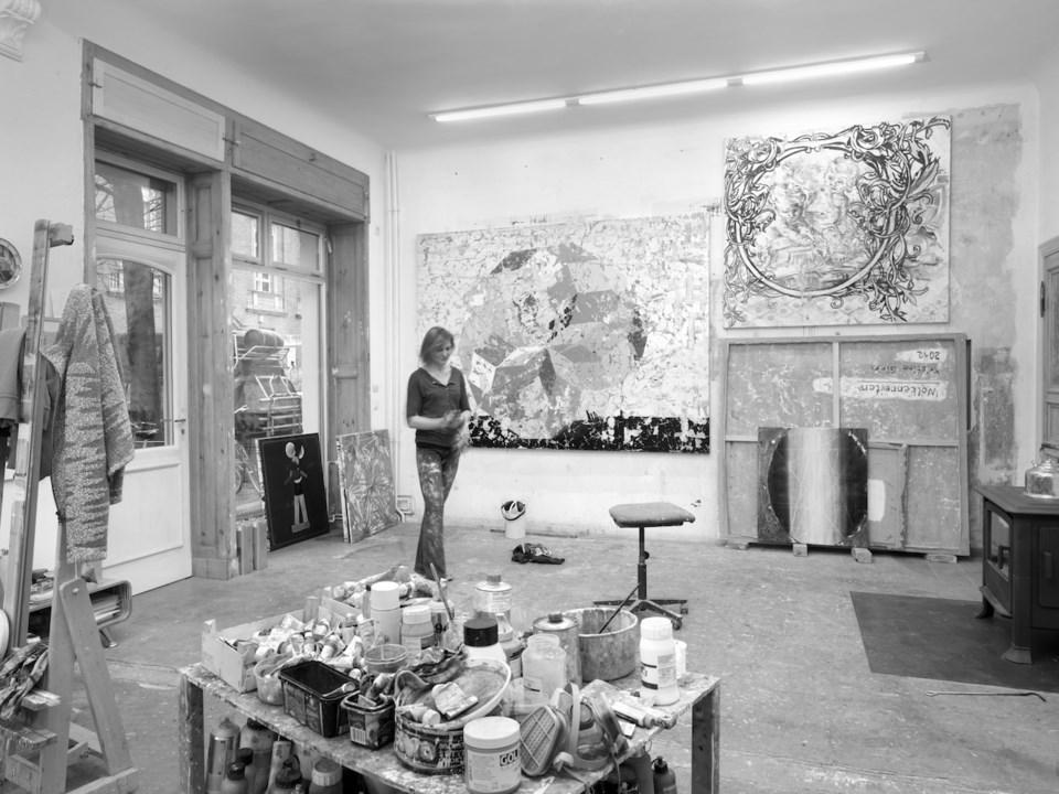 Kristina Girke in her Berlin studio.