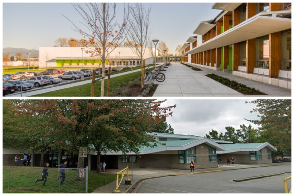 Pitt River middle (top) and Kwayhquitlum middle (bottom) were both flagged for COVID-19 exposures Sa