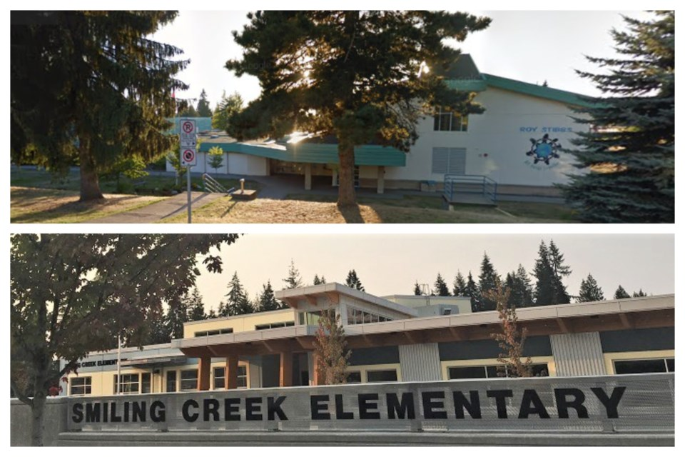 Roy Stibbs and Smiling Creek elementary schools