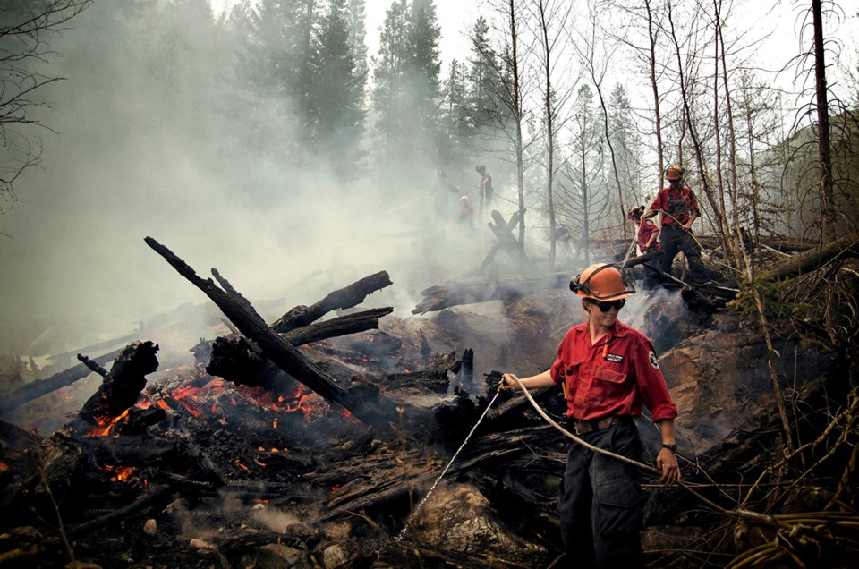 BC Wildfire Services firefighters
