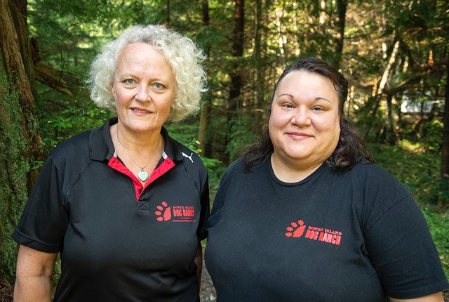 Bowen Island owner Karen Munro and operations manager and head trainer Carey Bolduc