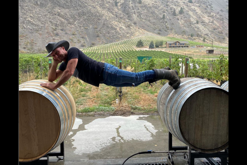 Making wine on the Clos du Soleil Winery near Keremeos. Dr. Bonnie Henry reportedly founded the winery with a group of friends in 2006 and remains a co-owner.