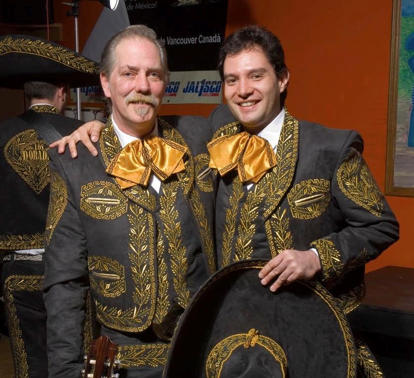 Two men in Mariachi attire