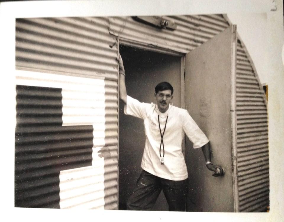 Roger Arndt in his 'doc' whites in Vietnam in 1969.