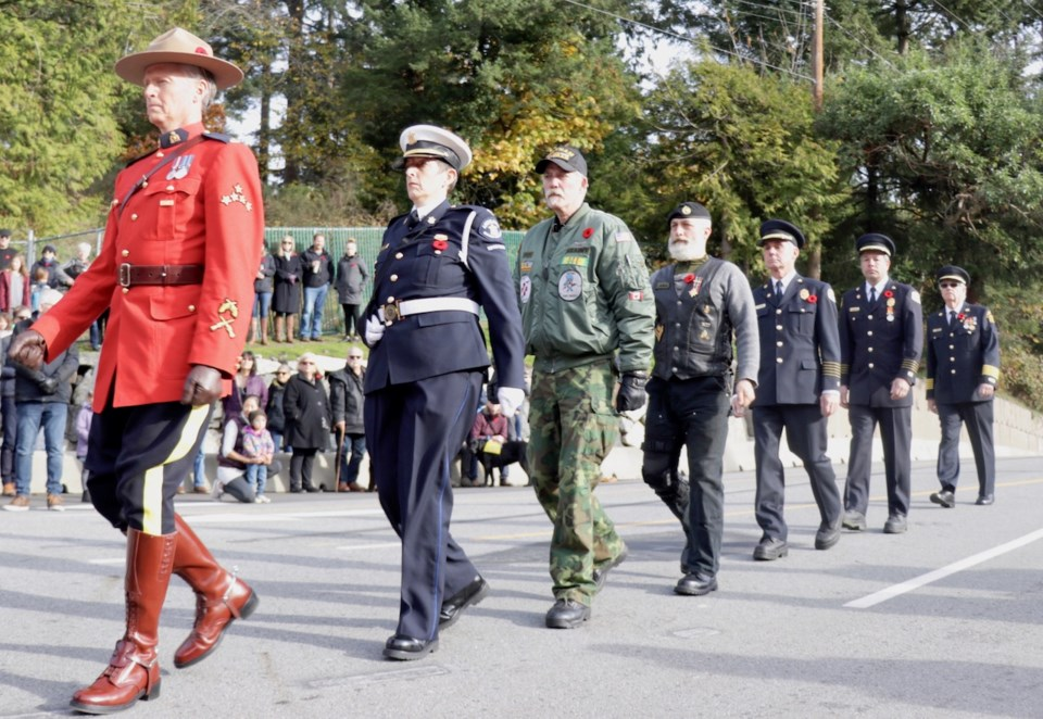A Remembrance Day parade