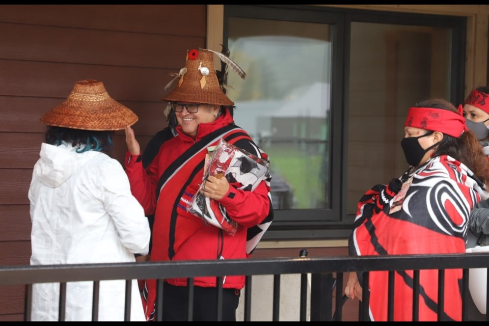 A blessing ceremony at Chesha7 Mix̱alh Méńmen Xwemélch'stn, Mother Bear Child Development Capilano, was held on Oct. 16. photo Squamish Nation