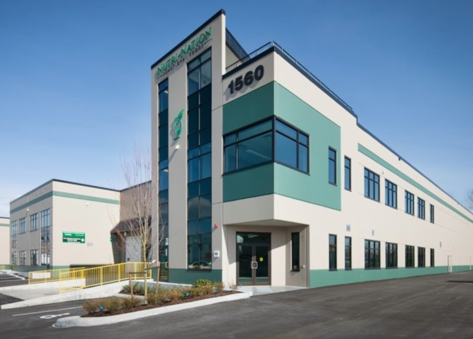 The Nutri-Nation Functional Foods Inc. plant off Broadway Street in Port Coquitlam recently had a wo