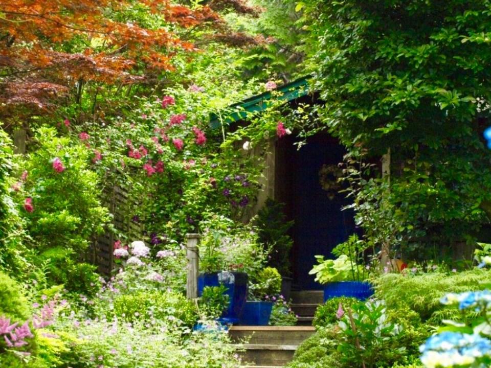 A back door leading into the garden