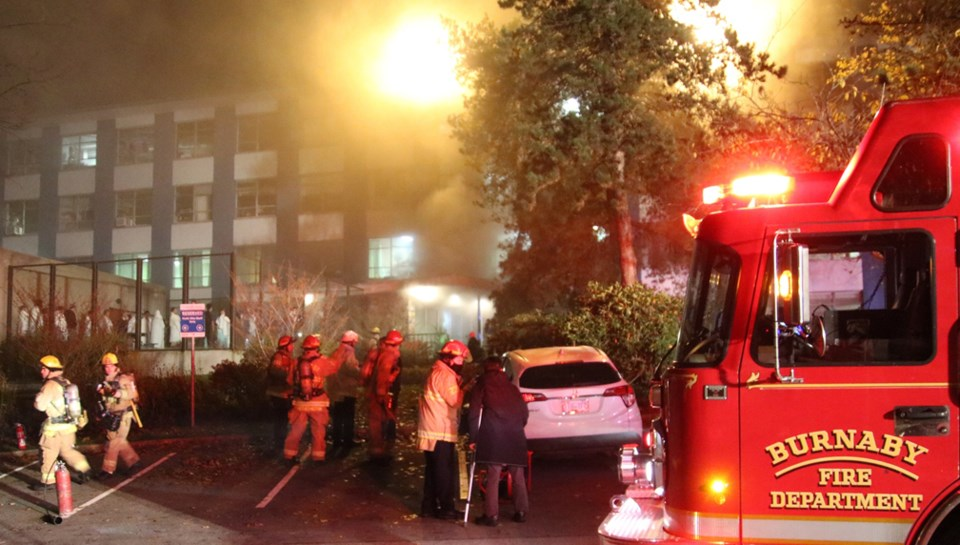 burnaby hospital fire