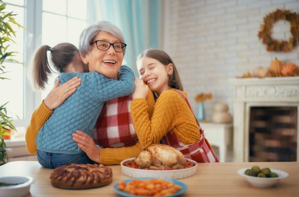children, grandparents, grandma, hug