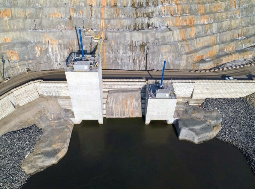 Diversion of the Peace River began on Sept. 30, 2020, when the diversion tunnels gates were opened.
