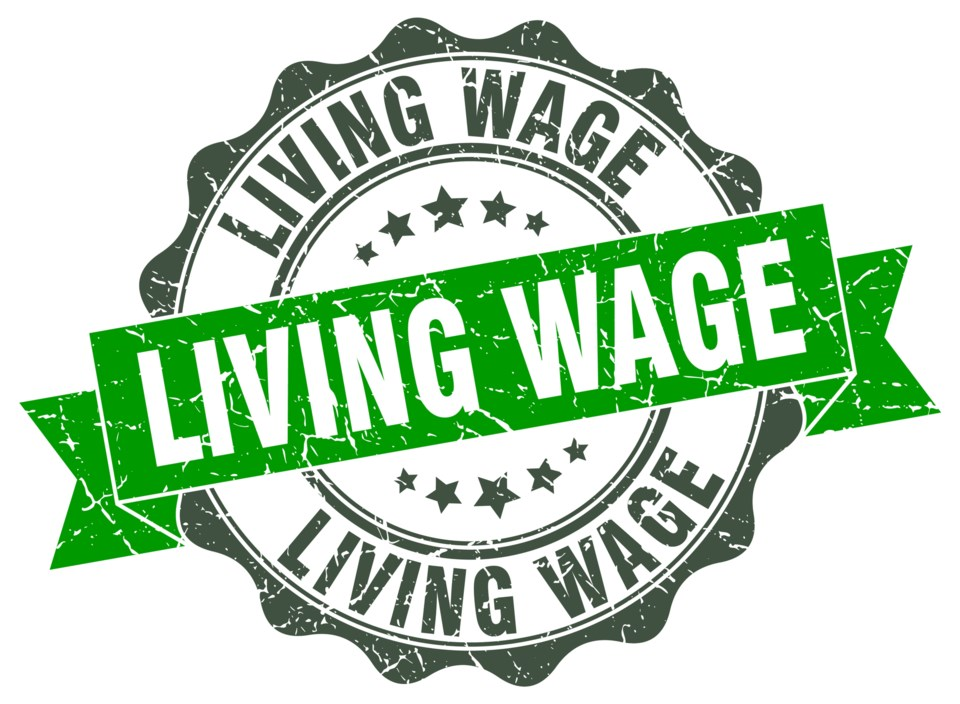 Living Wage, stock illustration