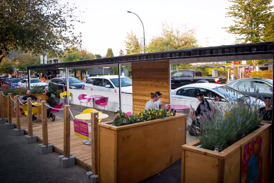shipping container parklet