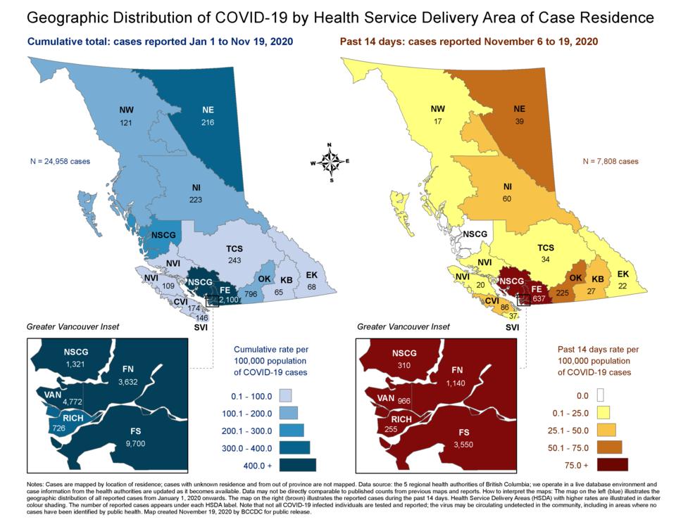 Covid map Nov. 19