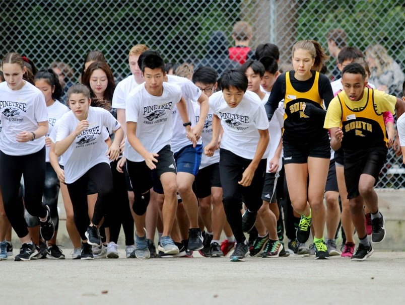 Students from Pinetree secondary run cross-country