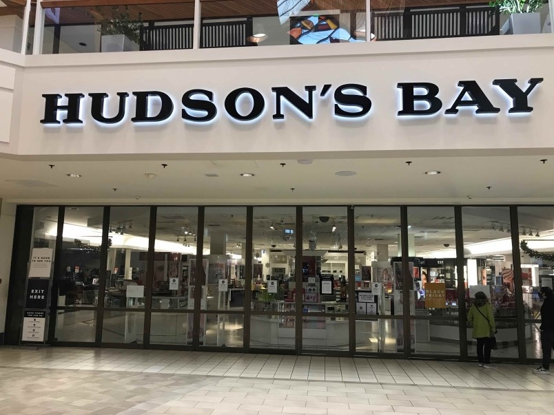 Hudson's Bay at Coquitlam Centre was shut Nov.21 for not paying rent. | Terry O'Neill
