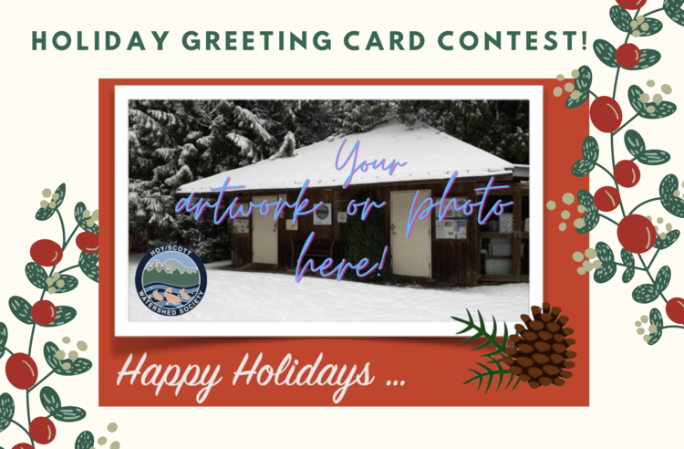 This is a holiday card sample that could feature the photos or artwork