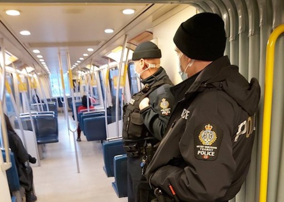 Over the past two weeks, Hampton says the transit police's enforcement team has been on the SkyTrain