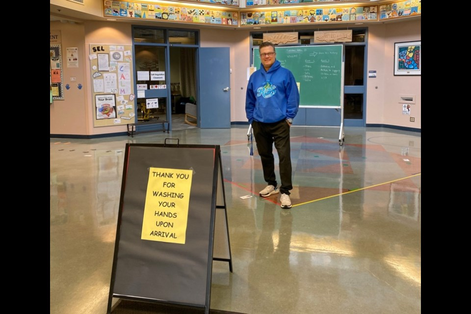 Ross Jacobsen is the principal of Coquitlam River elementary who welcomed back students to school in June after schools were shut down after spring break, and he welcomed kids back again in September. There are about 1,600 students still learning from their home in the gradual transition program.