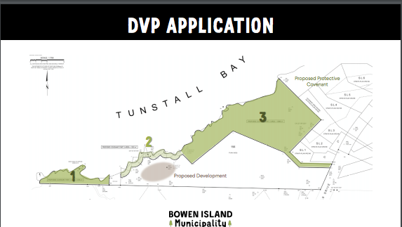 A map of a Tunstall Bay lot with sections highlighted in green