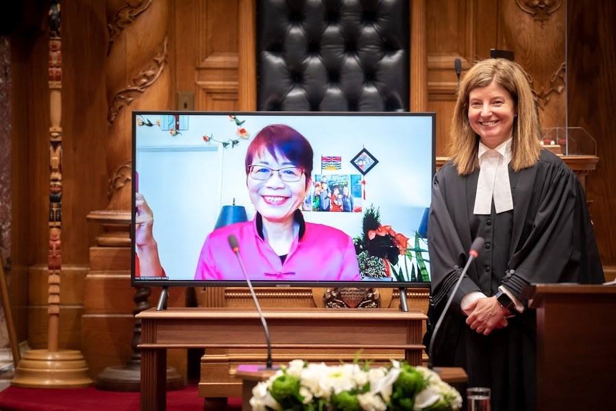 Teresa Wat, BC Liberal MLA for Richmond North Centre, was sworn in for her third term in a virtual ceremony, due to COVID-19.