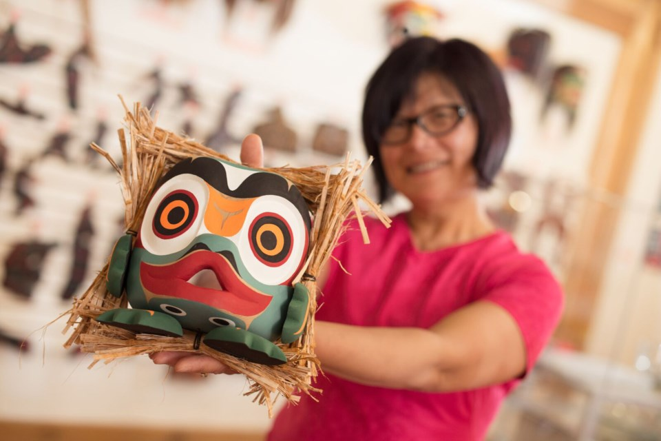Find Indigenous art from the Northwest Coast, including prints, gold and silver jewelry, and wood carvings at I-Hos Gallery's online store. photo Indigenous Tourism BC
