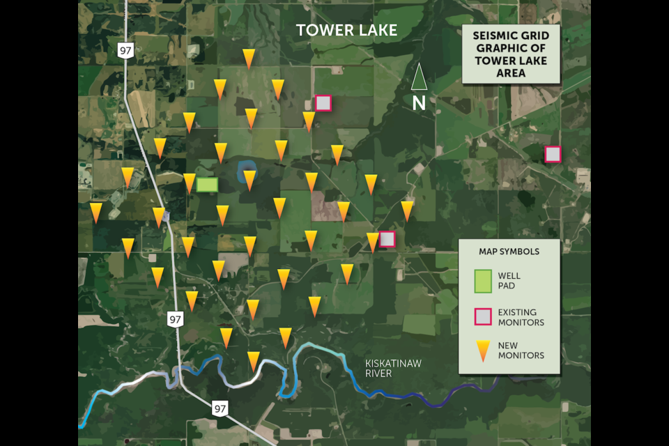 Seismic monitoring stations map.
