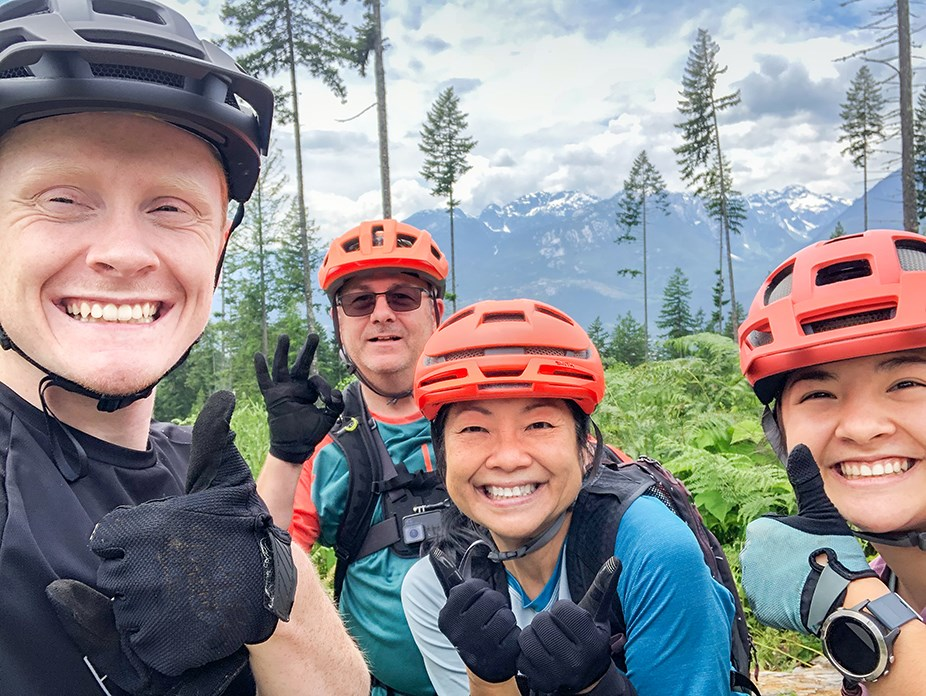 Mountain bikers in Squamish