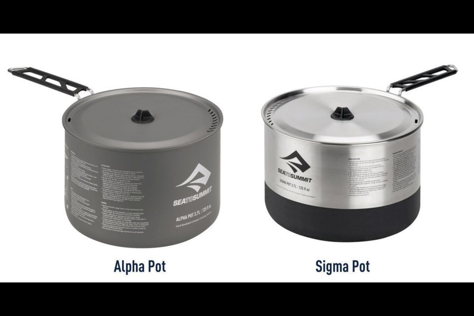 Health Canada issued a recall on the Alpha and Sigma camping pots.