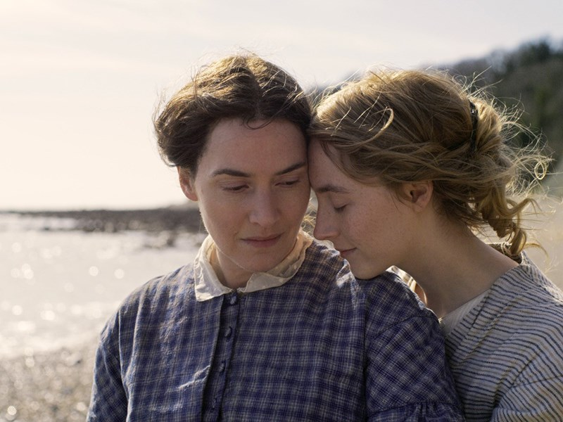 STAR POWER: Academy Award winner Kate Winslet [left] and Golden Globe Award winner Saoirse Ronan team up to star in Ammonite, one of 12 films available for screening during Powell River Film Festival. Photo courtesy Powell River Film Festival