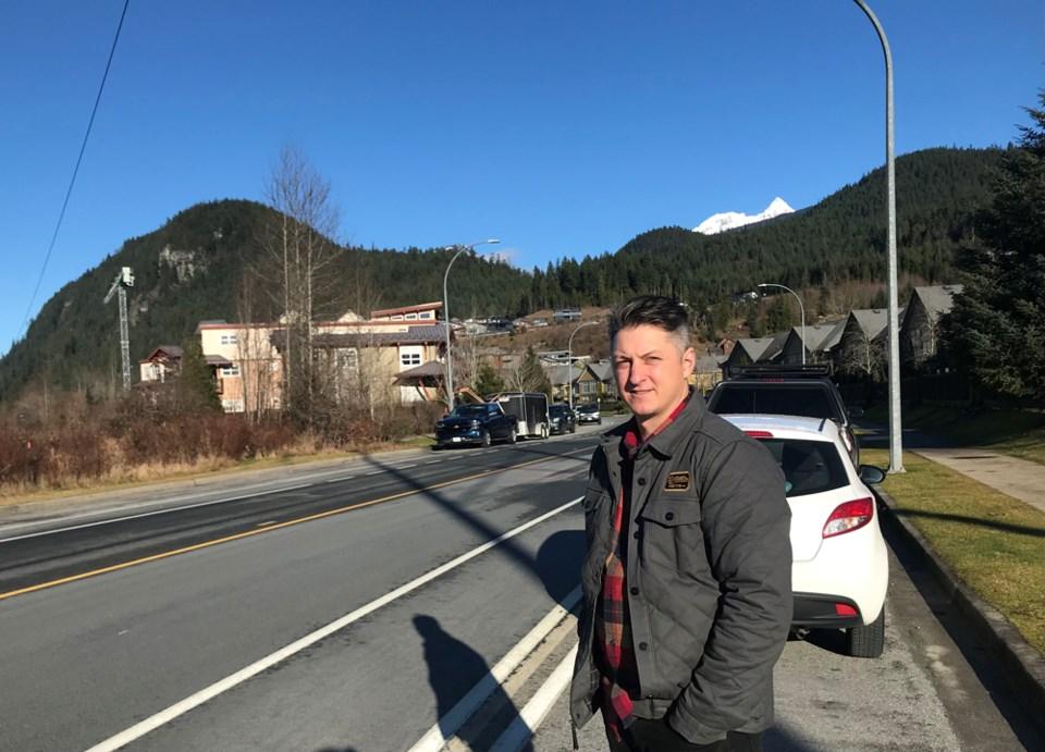 Tantalus Road resident Matt Clayden