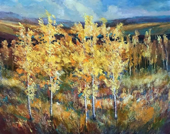 Aspens in the Meadow by Mike Kroecher.
