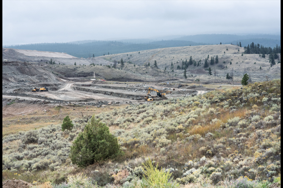 New Gold's New Afton mine is located about 10 kilometres southwest of Kamloops.