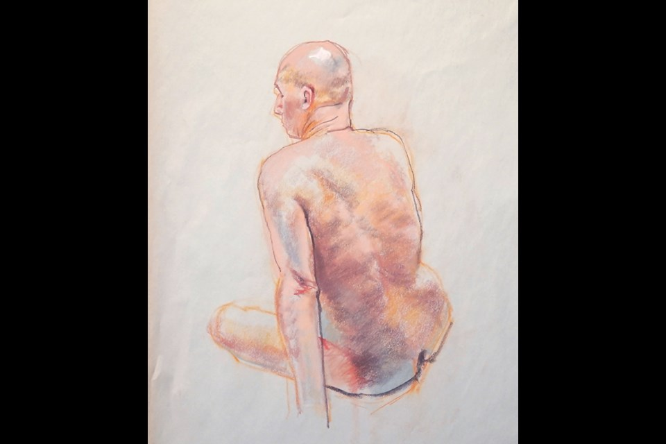 Life drawing by Claude Perreault.