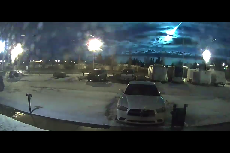 A 106.7 Rewind radio listener in Red Deer caught a good video of the meteor.