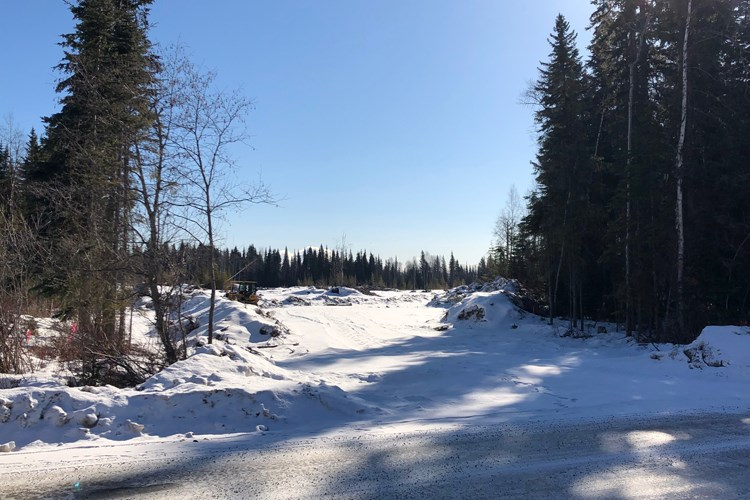 The proposed site of the Sparwood Landing apartment complex is seen from Sparwood Road on Monday.
