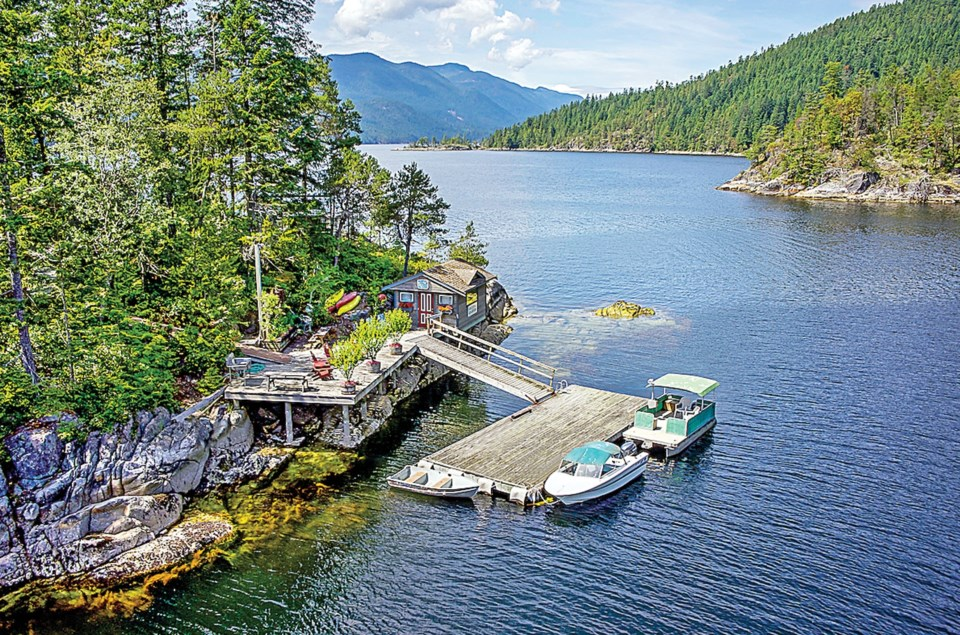 A waterfront retreat on the Sunshine Coast: prices up 34.6 per cent year-over-year.  Oakwyn Realty