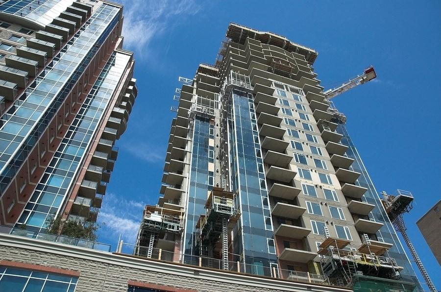 Calgary condos under construction.   Western Investor