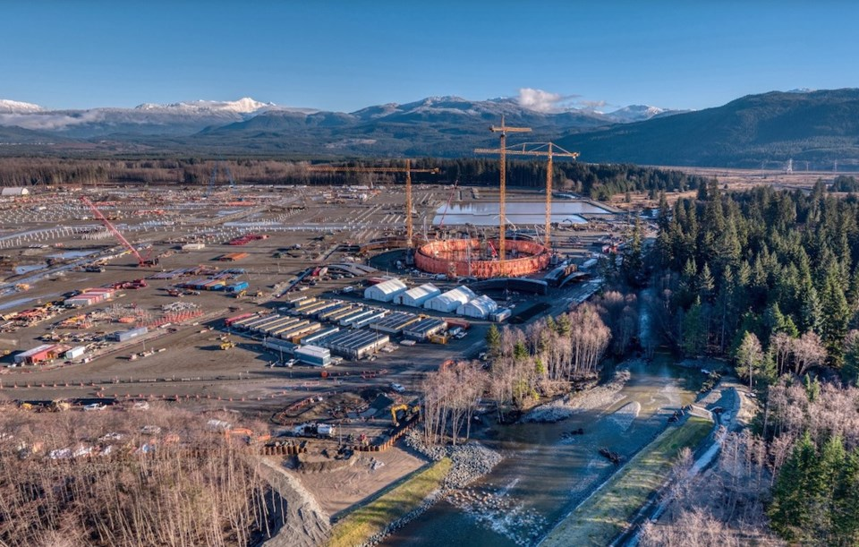 LNG Canada construction in Kitimat, where home prices are up 48 per cent from a year ago. | LNG Cana