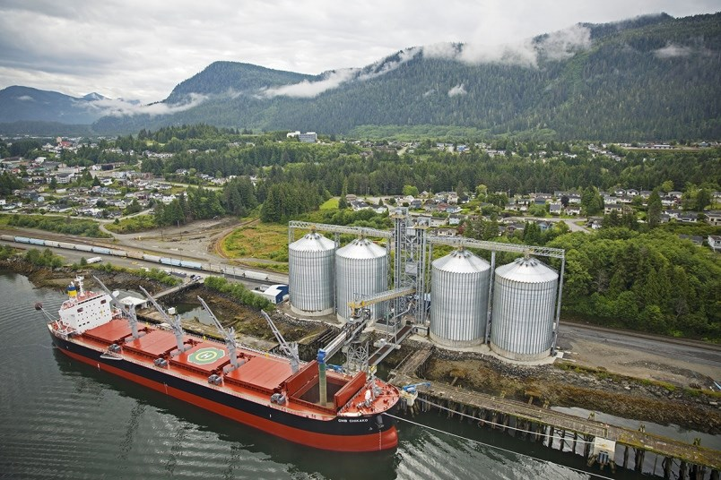 Pinnacle Renewable Energy terminal, Prince Rupert.   Submitted