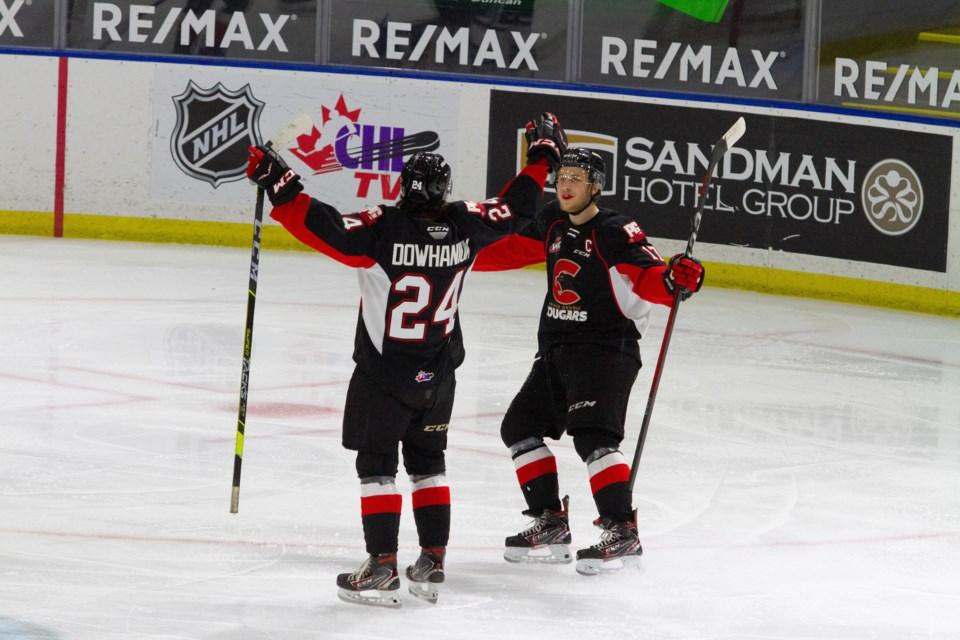 Cougars Keaton Dowhaniuk scores his first WHL goal April 16 2021