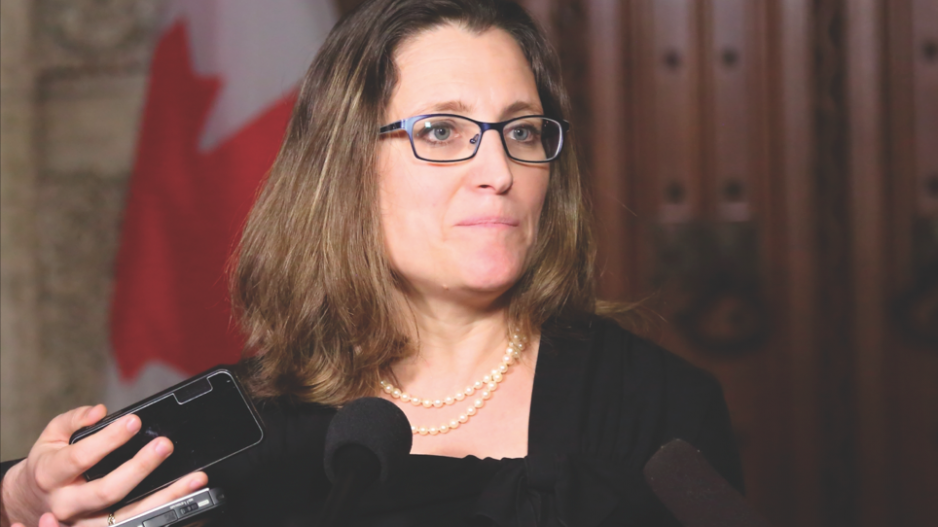 Finance Minister Chrystia Freeland delivers federal budget April 19.   Government of Canada