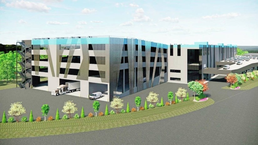 Renderings of new distribution centre proposed for Victoria airport. | Eagle Builders