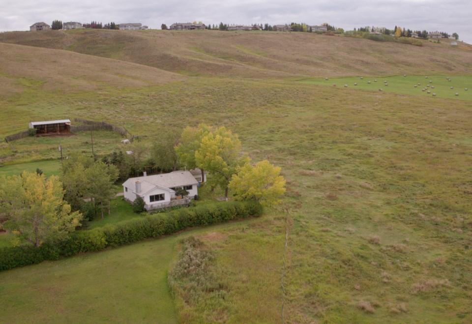 A 145-acre ranch near Calgary: $24,000 per acre.   Hansen Land Brokers