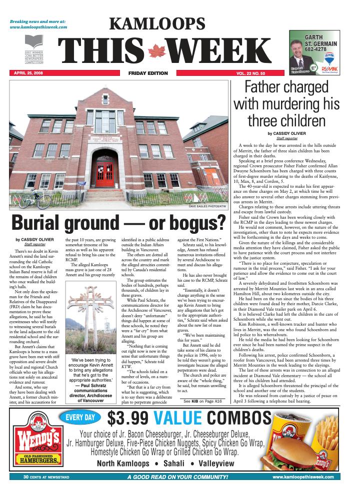 KTW front page April 25, 2008