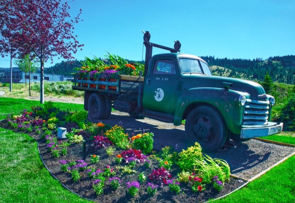 truck garden flowers City of Kamloops