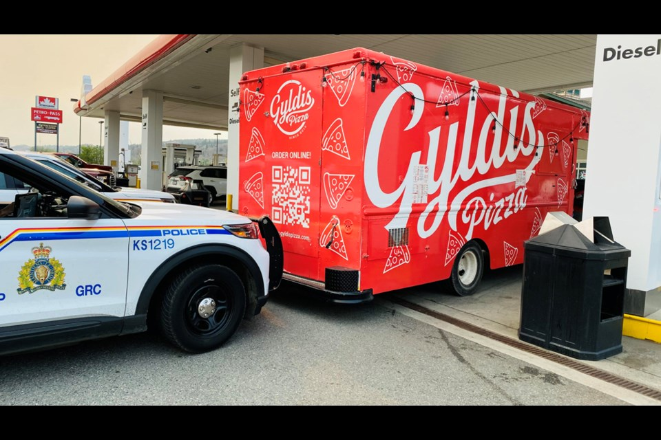 The stolen Gyldis pizza truck was recovered by police in Dallas on Friday, July 23.