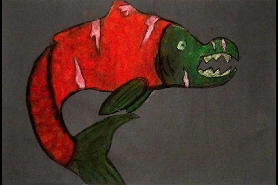 Salmon's War, Monroe Brown, Grade 6, Arthur Hatton elementary.
