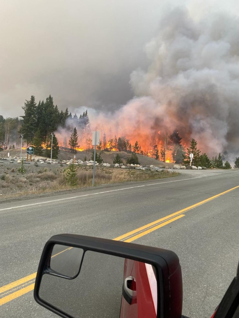 Logan lake Tremont fire