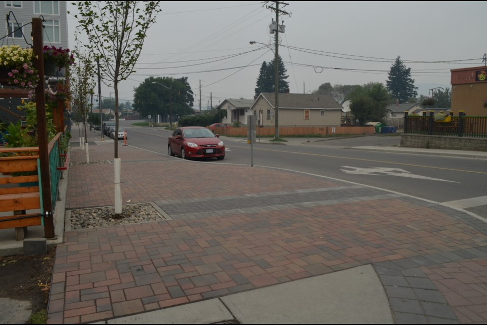 Red Beard owner Mitch Forgie said the trees he paid for in front of his business — ruby vase parrotia persica — were chosen with the help of the city's arborist for their air0cleansing qualities, helping to mitigate air pollution along the street.